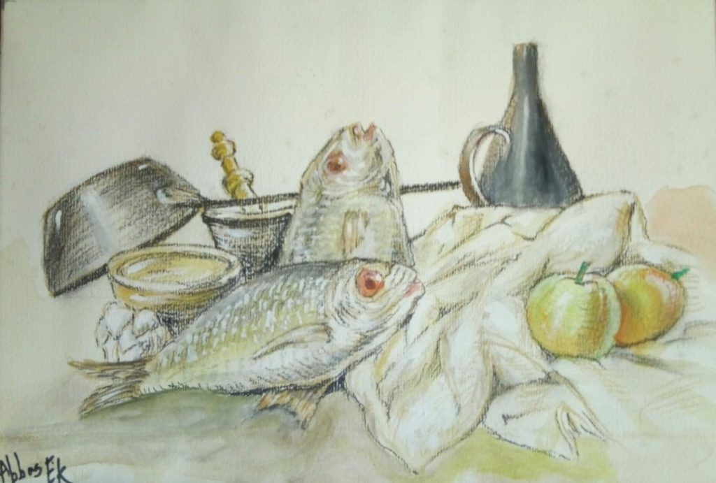 Still life of fish ready for cooking