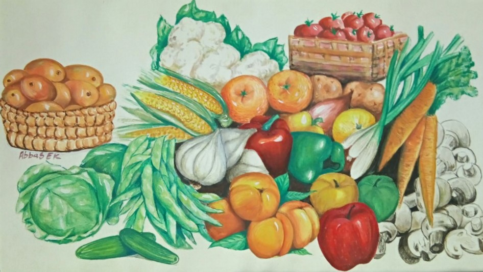 Study of a cluster of vegetables