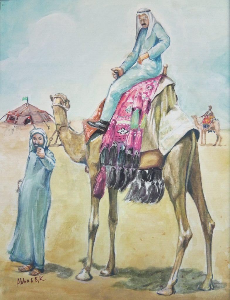 Portrat of a man on a camel